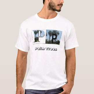 Letters - P - Palm Trees T-Shirt
