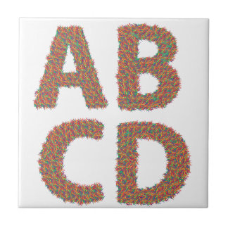 letters set tile