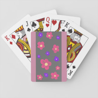 Letters with flowers playing cards