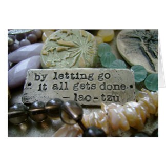 Letting Go Bead Notecard