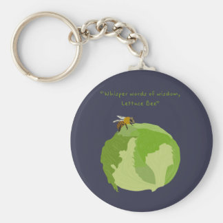 Lettuce Bee Basic Round Button Key Ring