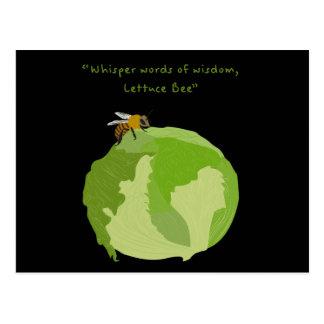 Lettuce Bee Postcard