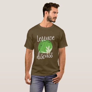 Lettuce Discuss with Illustrated Head of Lettuce T-Shirt