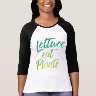 Lettuce Eat Plant Vegetarian and Vegan Humor T-Shirt