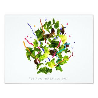 lettuce entertain you - dark 11 cm x 14 cm invitation card