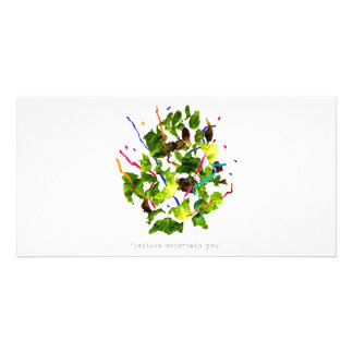 lettuce entertain you - dark photo greeting card