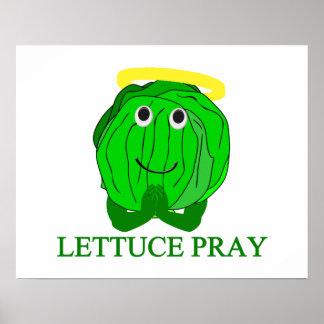 Lettuce Pray Poster