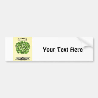 Lettuce Seeds Card Seed Company Bumper Sticker