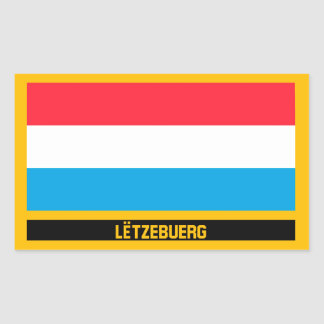 Lëtzebuerg Flag Rectangular Sticker