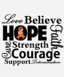 Leukaemia Collage of Hope Tshirts