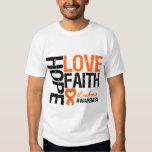 Leukaemia Hope Love Faith Tshirt