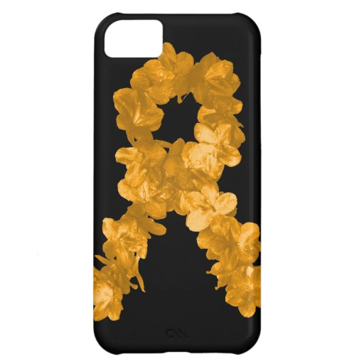 Leukemia Awareness Flower Ribbon Cover For iPhone 5C