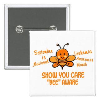 Leukemia Awareness Month Bee 1 1 Pinback Buttons