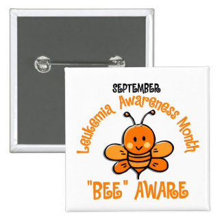 Leukemia Awareness Month Bee 1 2 Pin