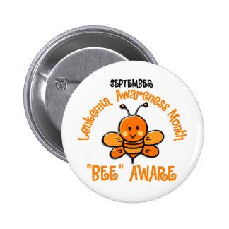 Leukemia Awareness Month Bee 1 2 Pinback Button