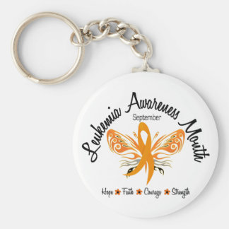 Leukemia Awareness Month Butterfly 3.2 Key Ring