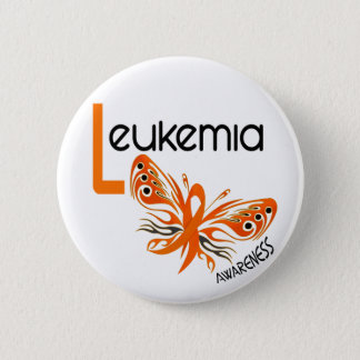 Leukemia BUTTERFLY 3.1 6 Cm Round Badge
