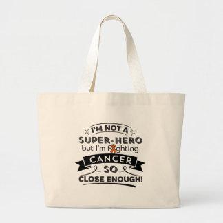 Leukemia Cancer Not a Super-Hero Jumbo Tote Bag