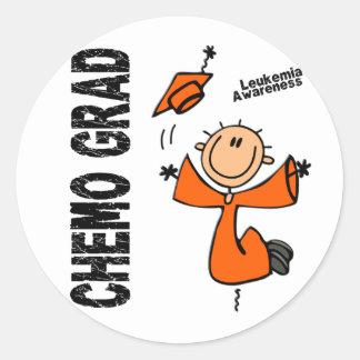 Leukemia CHEMO GRAD 1 Round Sticker