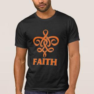 Leukemia Faith Fleur de Lis Ribbon T-Shirt