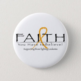 Leukemia faith-ribbon button