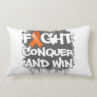 Leukemia Fight Conquer and Win Throw Cushion