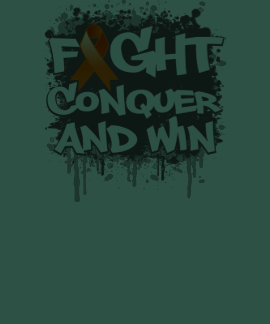 Leukemia Fight Conquer and Win Tee Shirt