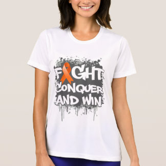 Leukemia Fight Conquer and Win Tee Shirts