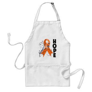 Leukemia Floral Hope Ribbon 2 Adult Apron