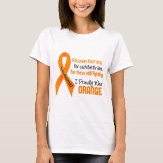 Leukemia I Proudly Wear Orange T-Shirt