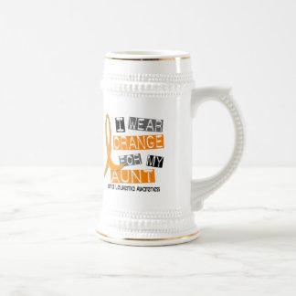 Leukemia I Wear Orange For My Aunt 37 Mugs