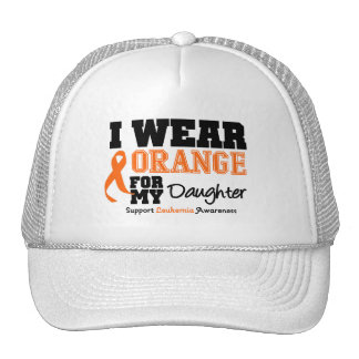 Leukemia I Wear Orange For My Daughter Trucker Hat