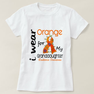 Leukemia I Wear Orange For My Granddaughter 43 T-Shirt