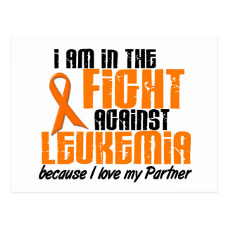 LEUKEMIA In The Fight For My Partner 1 Postcard