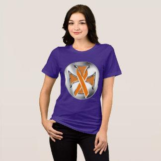 Leukemia Iron Cross Ladies Relaxed Fit T-Shirt