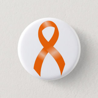 Leukemia Orange Ribbon 3 Cm Round Badge