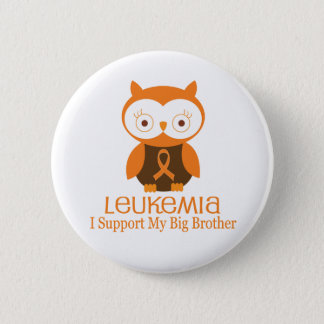 Leukemia Orange Ribbon Button Big Brother