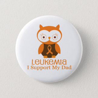 Leukemia Orange Ribbon Button Dad