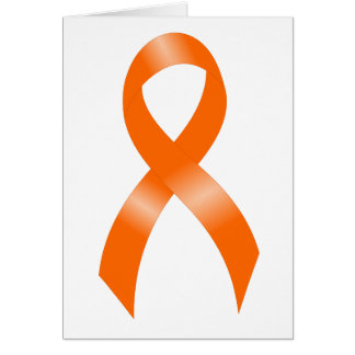 Leukemia Orange Ribbon Card