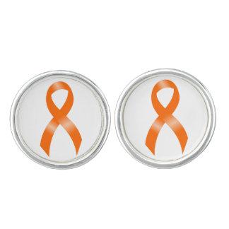 Leukemia Orange Ribbon Cufflinks