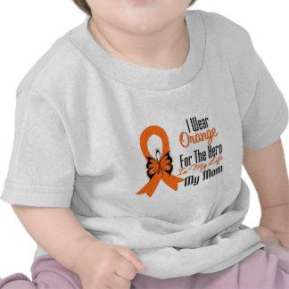 Leukemia Orange Ribbon Hero My Mom Tee Shirts