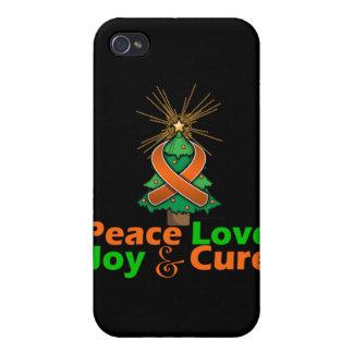 Leukemia Peace Love Joy Cure Cover For iPhone 4
