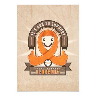 Leukemia - Retro Charity Ribbon - Card
