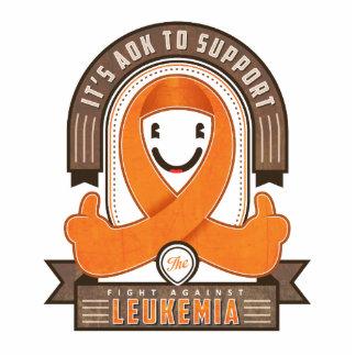 Leukemia - Retro Charity Ribbon - Photo Magnet Photo Cutouts