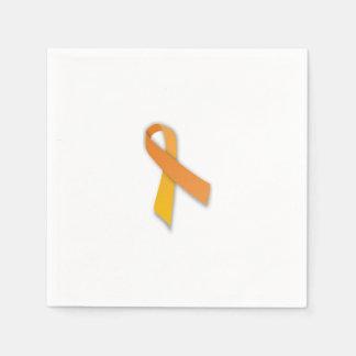 Leukemia Ribbon Napkins Paper Serviettes