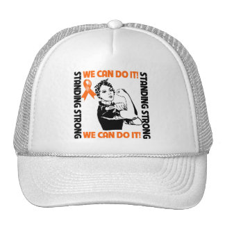 Leukemia Standing Strong We Can Do It Trucker Hat