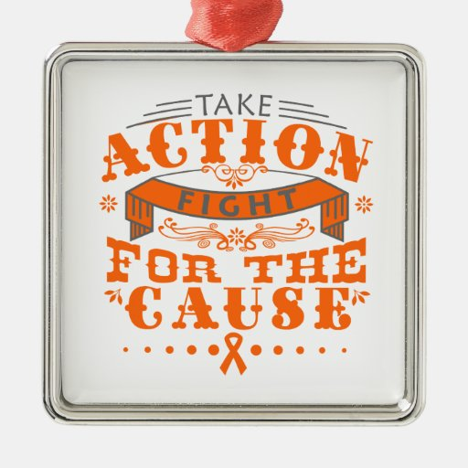 Leukemia Take Action Fight For The Cause Christmas Tree Ornament