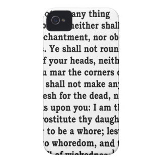 Lev. 19: 26 iPhone 4 cases