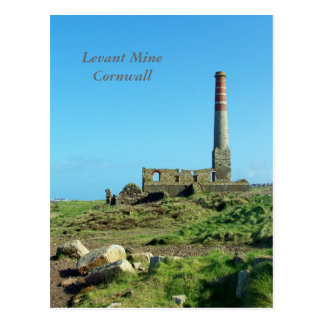 Levant Mine Cornwall England Photo Postcard