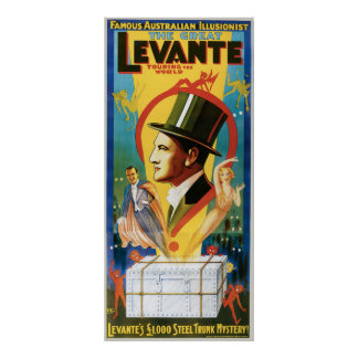 Levante The Great Vintage Magic Act Posters